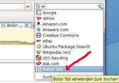 Bolor search bar